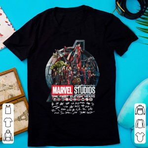 Premium The First Eleven Years All Characters Signatures Avengers Marvel Studios shirt