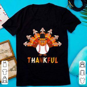 Premium Turkey With Baseball Thankful Thanksgiving Christmas Gift shirt