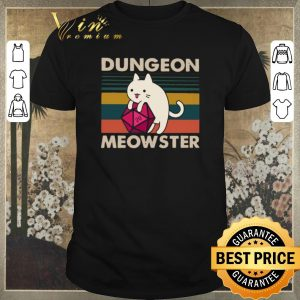 Premium Vintage Cat Dungeon meowster shirt