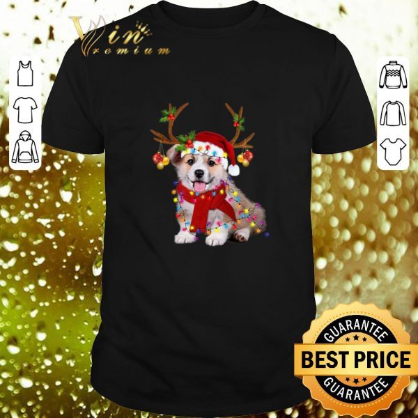 Pretty Corgi reindeer Christmas shirt