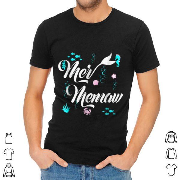 Pretty Cute Mermaid Memaw Matching Family Christmas shirt