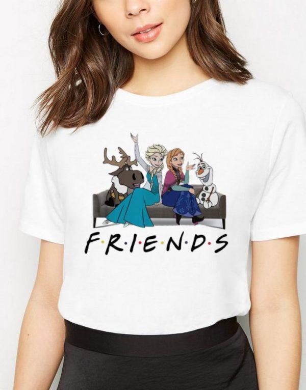 Pretty Disney Frozen Elsa Olaf Anna Sven Friends shirt