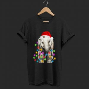 Pretty Elephant Santa Light Christmas shirt