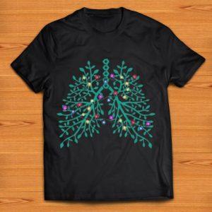 Pretty Flowery Lungs Tree Christmas shirt