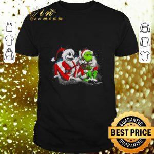 Pretty Jack Skellington and Grinch Merry Christmas shirt
