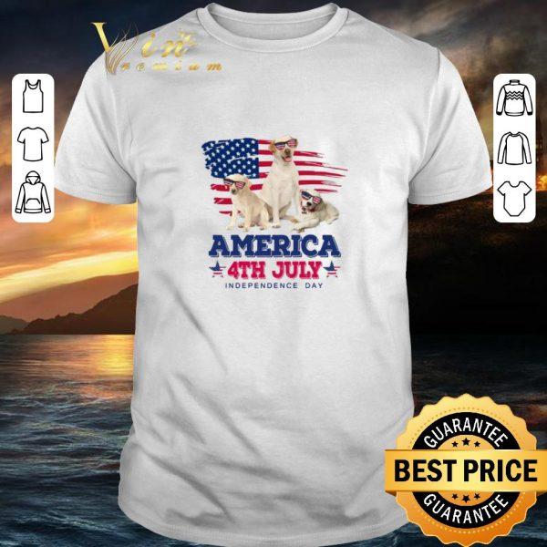Pretty Labrador Retriever America 4th July Independence Day shirt