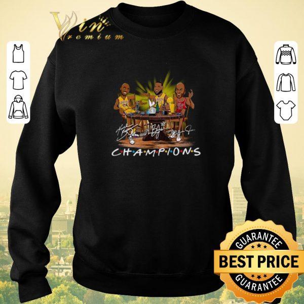 Pretty LeBron James Kobe Bryant Michael Jordan Champion Friends shirt sweater