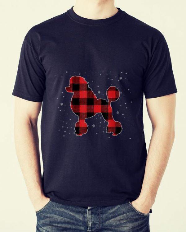 Pretty Poodle Christmas Pajama Dog Buffalo Plaid Xmas Gift shirt