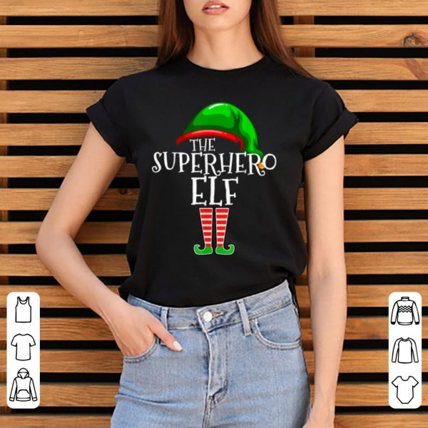Pretty Superhero Elf Group Matching Family Christmas Gift Outfit shirt