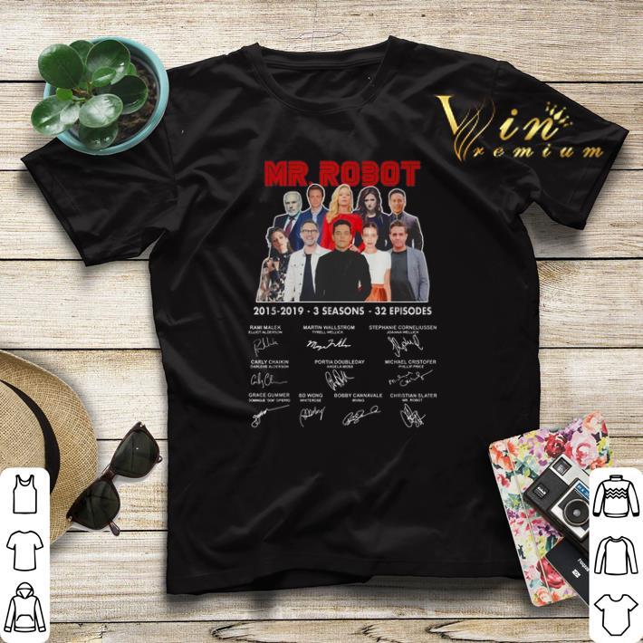 Signatures Mr Robot 2015 2019 3 seasons 32 episodes shirt 4 - Signatures Mr. Robot 2015-2019 3 seasons 32 episodes shirt