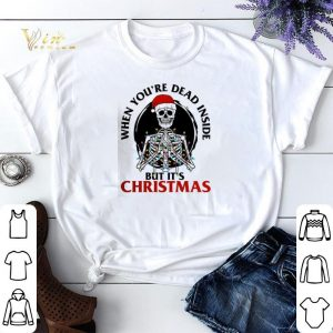 Skeleton santa when you're dead inside but it's Christmas shirt sweater