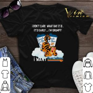 Tigger i don't care what day it is i'm grumpy Dutch Bros Coffee shirt sweater