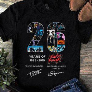 Top 26 Years of Daft Punk 1993 2019 signatures shirt