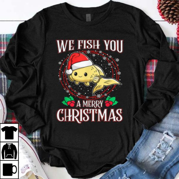 Top Aquarium Lover Tropical We Fish You a Merry Christmas shirt