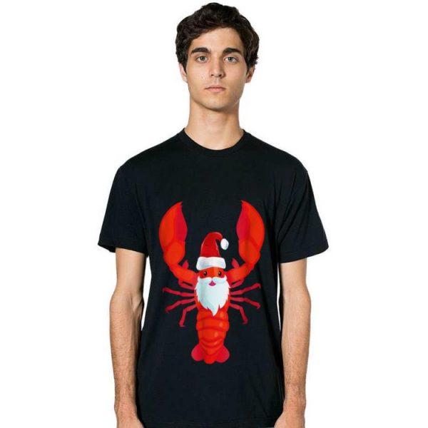 Top Christmas Lobster Santa Claws Merry Christmas shirt