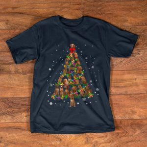 Top Cute Vizsla dog Christmas Tree gift decor Xmas tree shirt