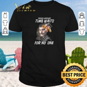 Top Freddie Mercury time waits for no one shirt sweater 2019