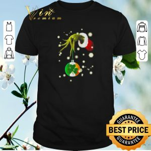 Top Grinch hold Shamrock Christmas shirt sweater