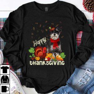 Top Happy Thanksgiving Pilgrim Miniature Schnauzer Lover Gift shirt
