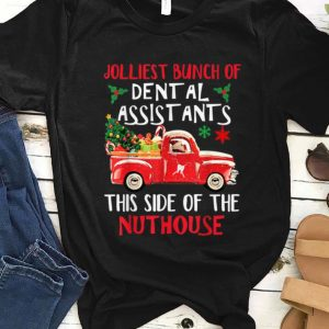Top Jolliest Bunch Of Dental Assistants Nuthouse Merry Christmas shirt
