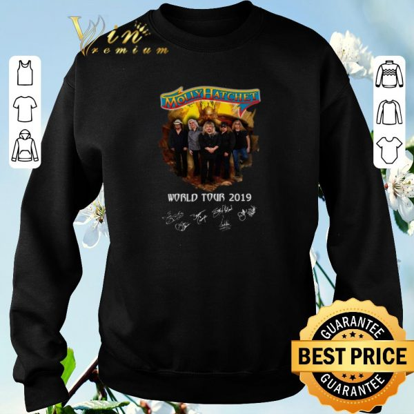 Top Signatures Molly Hatchet world tour 2019 shirt