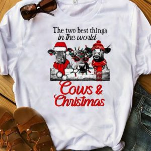 Top The two best thing in the world Cows and Christmas shirt