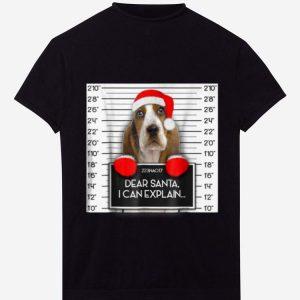 Top Xmas Cute Basset Hound Lover Santa Hat Dog Christmas shirt