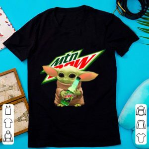 Awesome Baby Yoda Hug Mountain Dew shirt