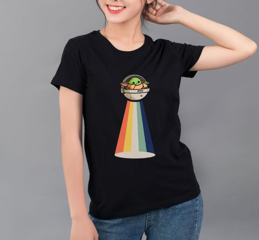 Awesome Baby Yoda UFO vintage shirt 4 - Awesome Baby Yoda UFO vintage shirt