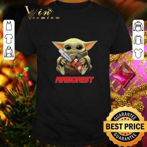 Awesome Baby Yoda hug Arborist Star Wars shirt