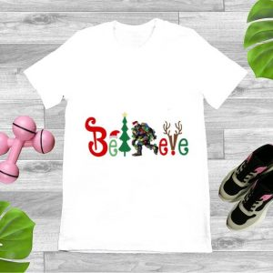Awesome Bigfoot Believe Christmas shirt