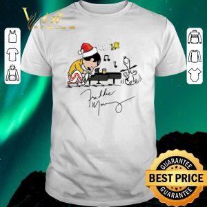 Awesome Christmas Freddie Mercury Playing Piano Snoopy Peanuts Signature shirt