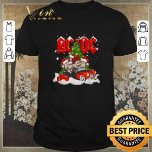 Awesome Christmas tree ACDC driving car shirt