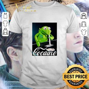 Awesome Kermit The Frog Snorting Crack Cocaine shirt