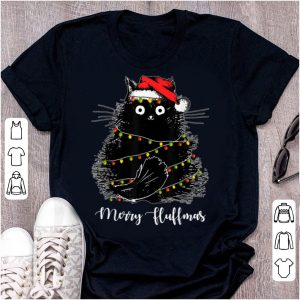 Awesome Merry Fluffmas Cats With Santa Hat Xmas Lights Christmas sweater
