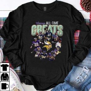 Awesome Minnesota Vikings all time great players signatures shirt