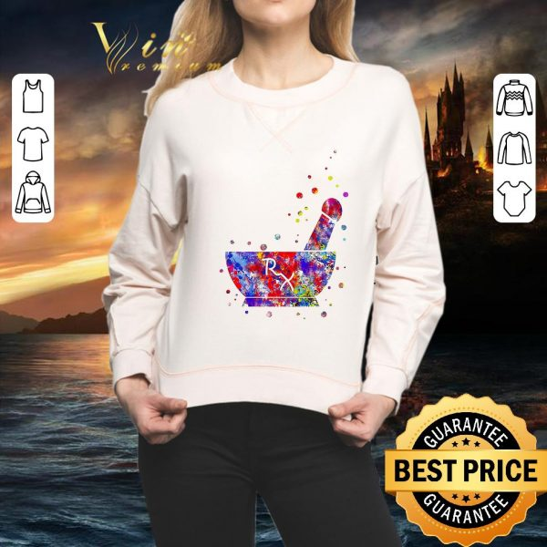 Awesome Pharmacist Pestle Rx medical colorful shirt