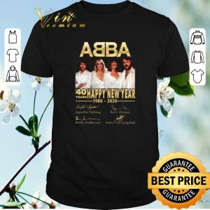 Awesome Signatures 40 years ABBA Happy New Year 1980 2020 shirt