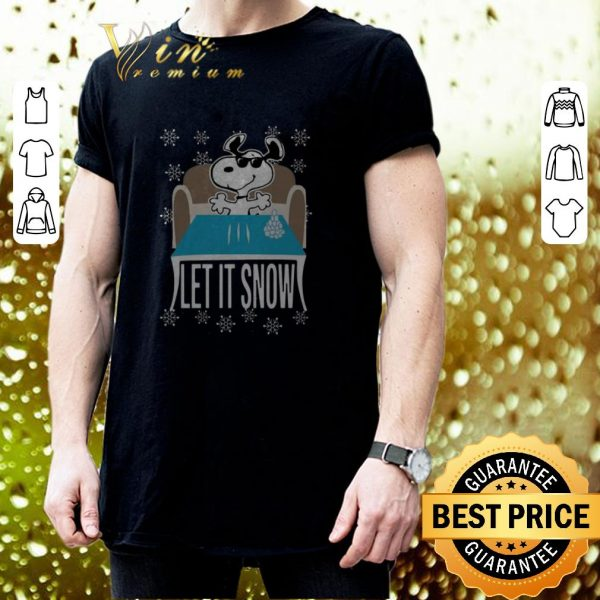 Awesome Snoopy Walmart Cocaine Let It Snow shirt