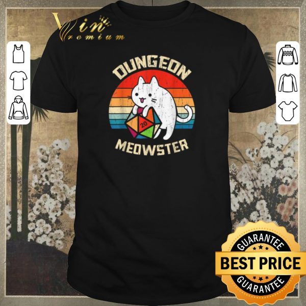 Awesome Vintage Dungeons & Dragons Meowster Cat D20 shirt