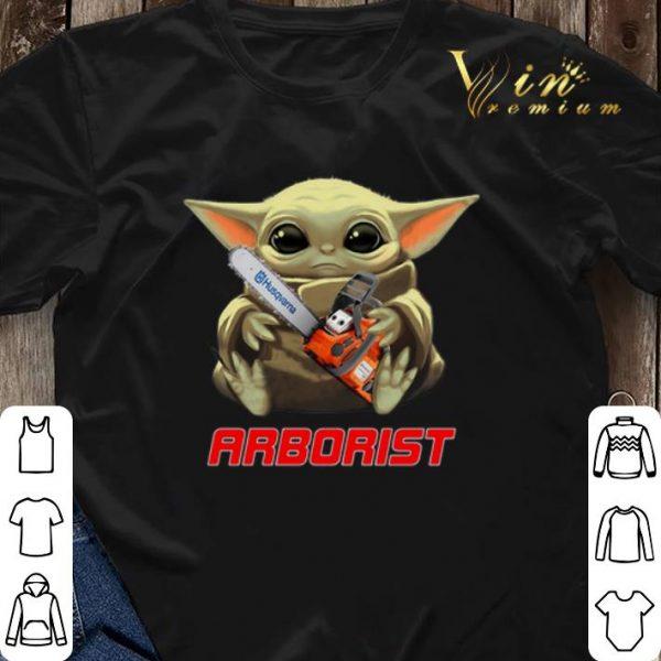 Baby Yoda hug Arborist Star Wars shirt sweater