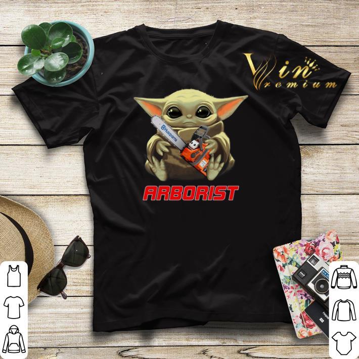 Baby Yoda hug Arborist Star Wars shirt sweater 4 - Baby Yoda hug Arborist Star Wars shirt sweater