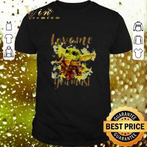 Best Baby Yoda love me you must Star Wars leopard shirt