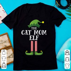 Cat Mom Elf Matching Family Group Christmas Party Pajama sweater