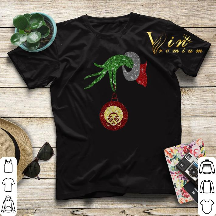 Christmas Grinch hand holding Black Woman shirt 4 - Christmas Grinch hand holding Black Woman shirt