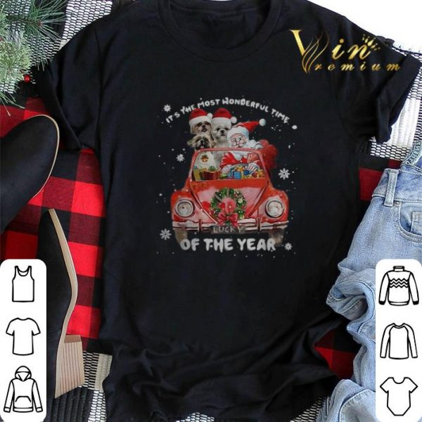 Christmas Shih Tzu Santa its the most wonderful time of the year shirt