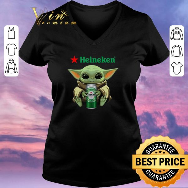 Funny Baby Yoda hug Heineken Star Wars Mandalorian shirt sweater