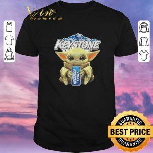 Funny Baby Yoda hug Keystone Light Star Wars Mandalorian shirt sweater