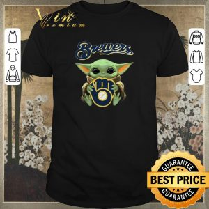 Funny Baby Yoda hug Milwaukee Brewers Star Wars Mandalorian shirt sweater