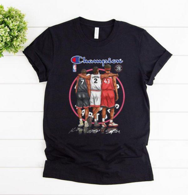 Funny Champions Kyle Lowry Leonard Pascal Siakam Toronto Raptors shirt